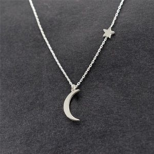 Jewelry - NWT Silver Star & Moon Necklace